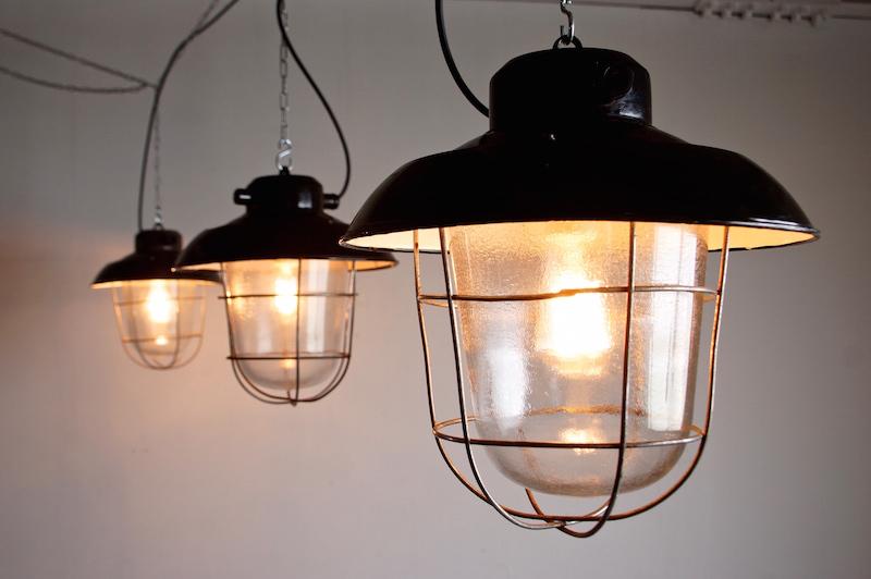 Black Deck Lamp/インダストリアルランプ照明ライト