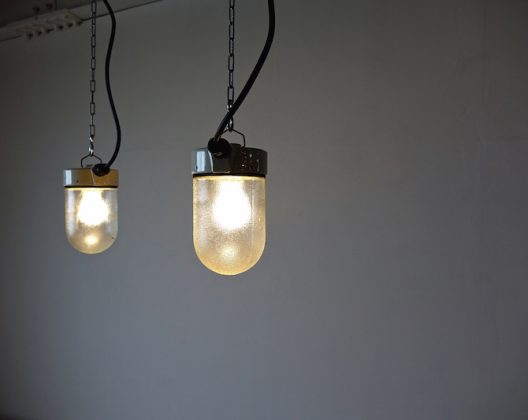 white drop / industrial lamp