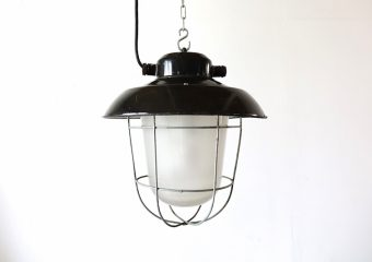 インダストリアル照明ライト/Black deck lamp (smoked)