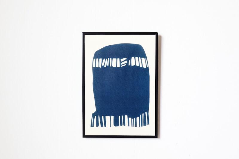 Blue symbol by Leise Dich Abrahamsen