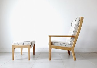 """GE265"" high back by Hans J. Wegner"