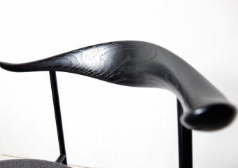 CH88P Black frame/Fiord by Hans J. Wegner