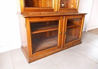 Huge glass cabinet / ヴィンテージ アンティーク キャビネット