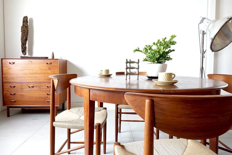 316 Dining Chairs by Peter Hvidt & Orla Mølgaard Nielsen for Søborg