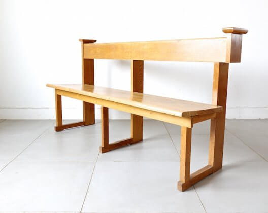 Danish old church bench
