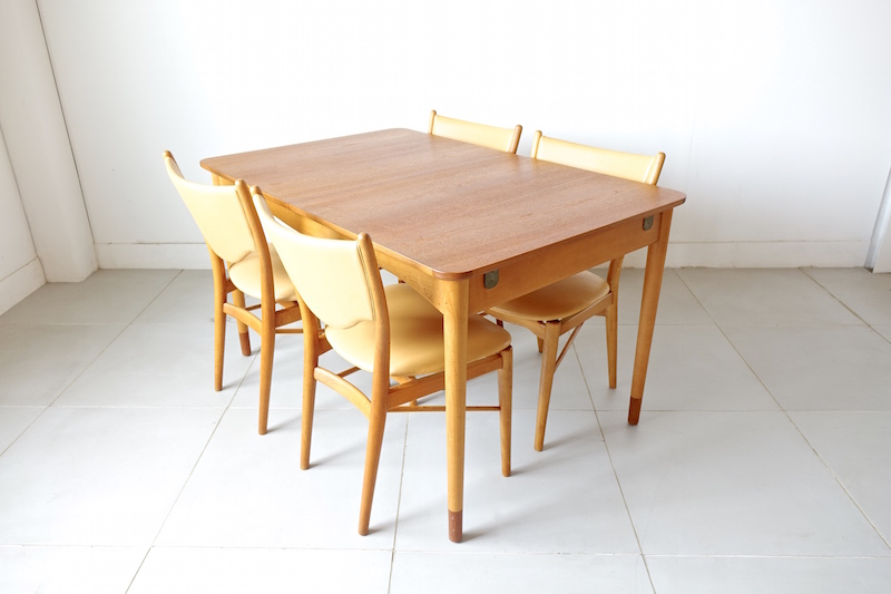 """Bo63"" With Dining Table By Finn Juhl For Bovirke"