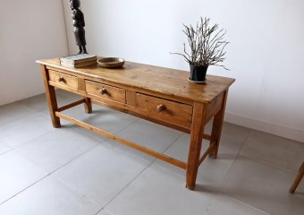 Old wooden work table