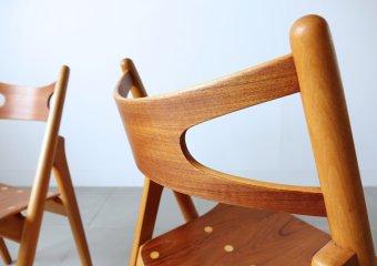 CH29 Sawbuck chairs/First edition by Hans J. Wegner