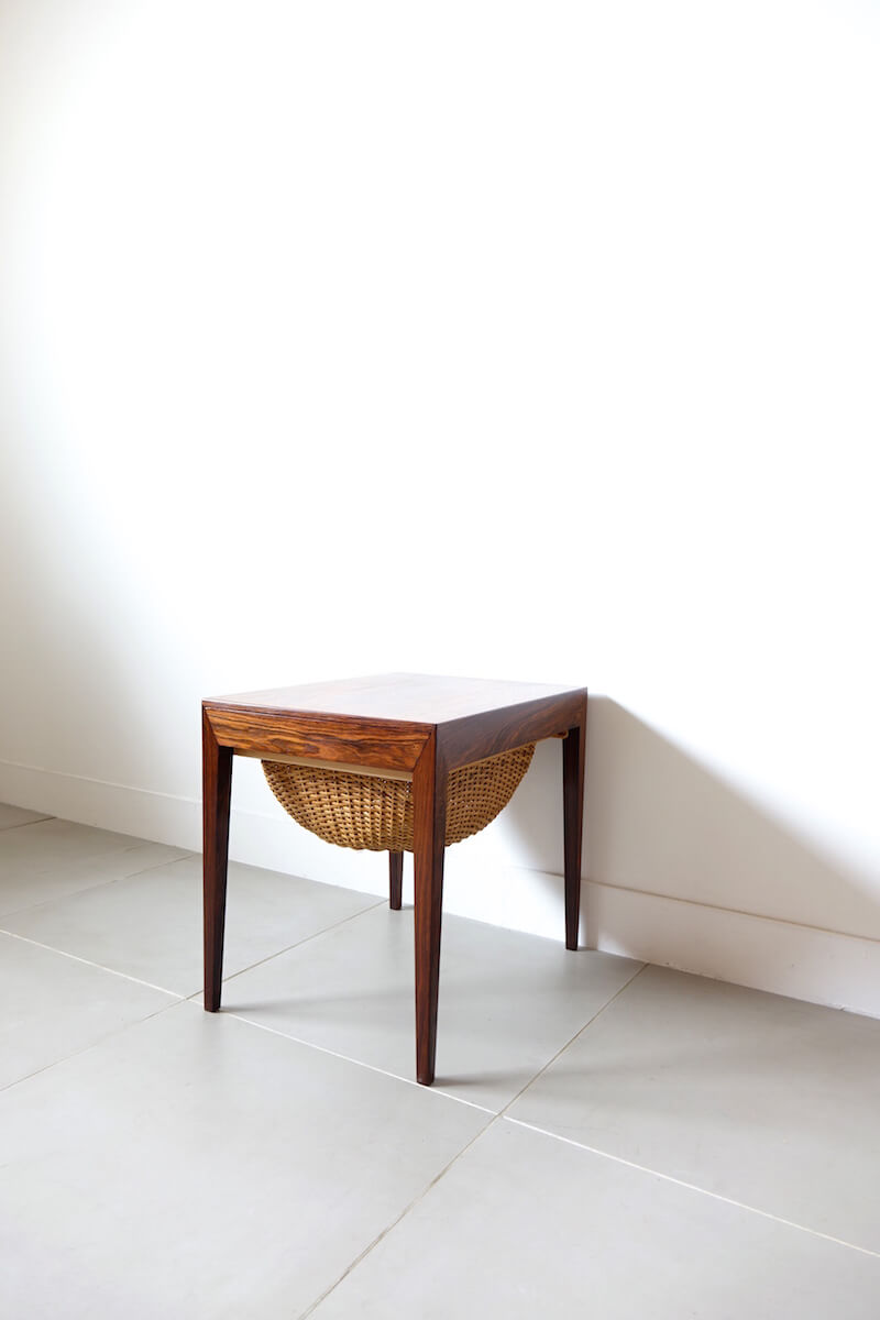 Sewing table in rosewood by Severin Hansen Jr. for Haslev