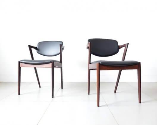 No.42 Dining chairs by Kai Kristiansen カイ・クリスチャンセン ダイニングチェア