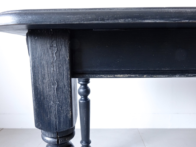 Painted black table