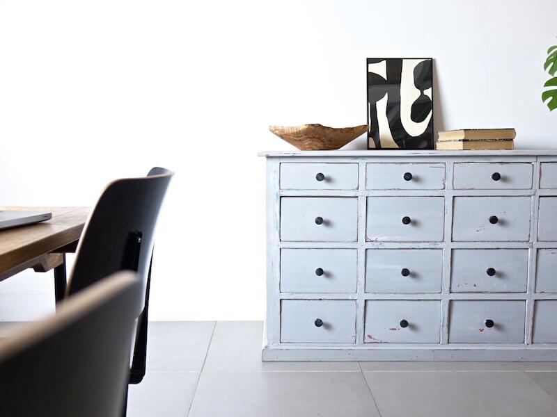 Pastel blue cabinet