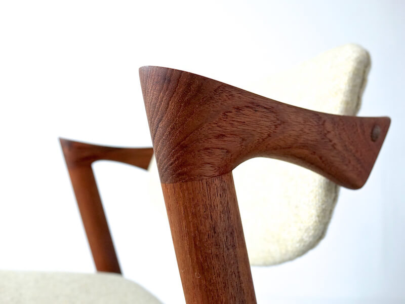 No.42 Dining chairs by Kai Kristiansen in teak