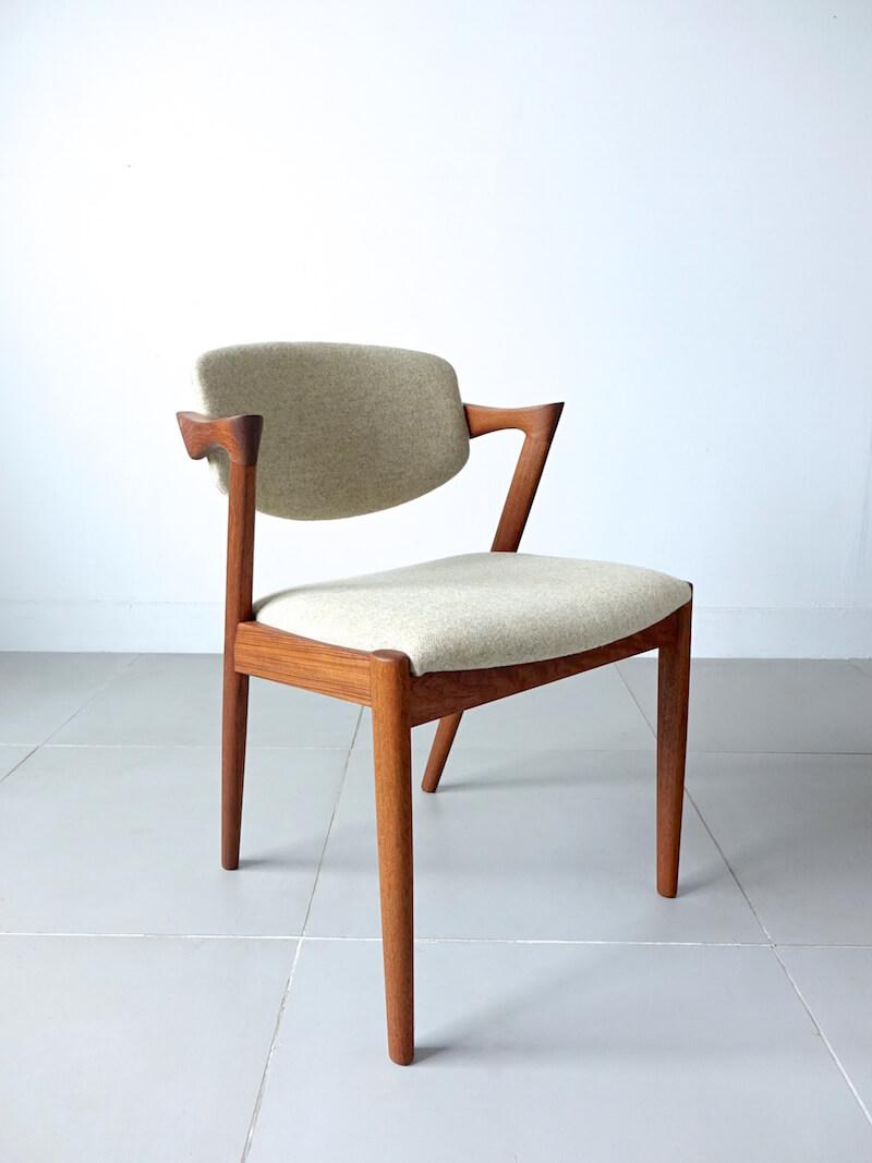 No.42 Dining chairs by Kai Kristiansen in teak