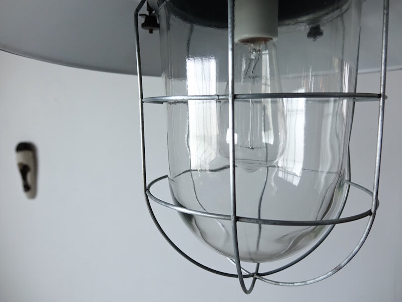 Black deck lamp #3 ヴィンテージインダストリアルランプ