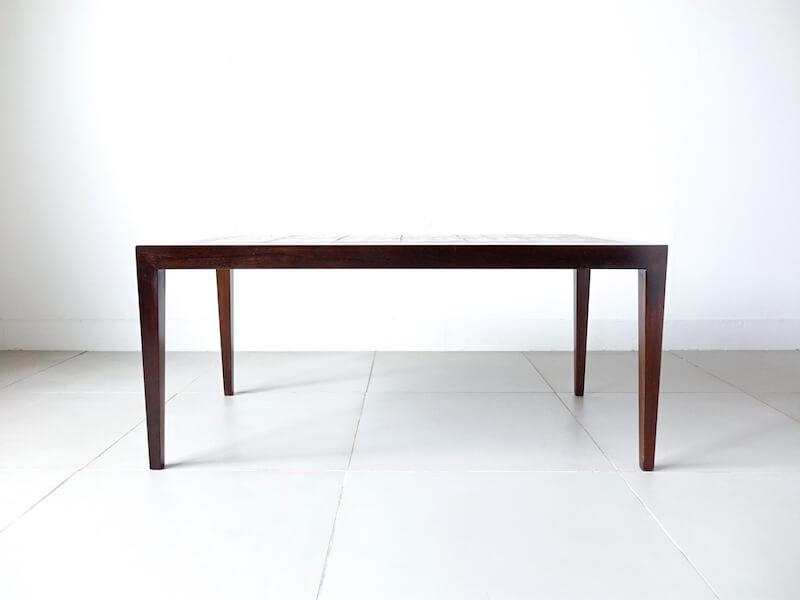 Coffee table by Haslev with Royal Copenhagen