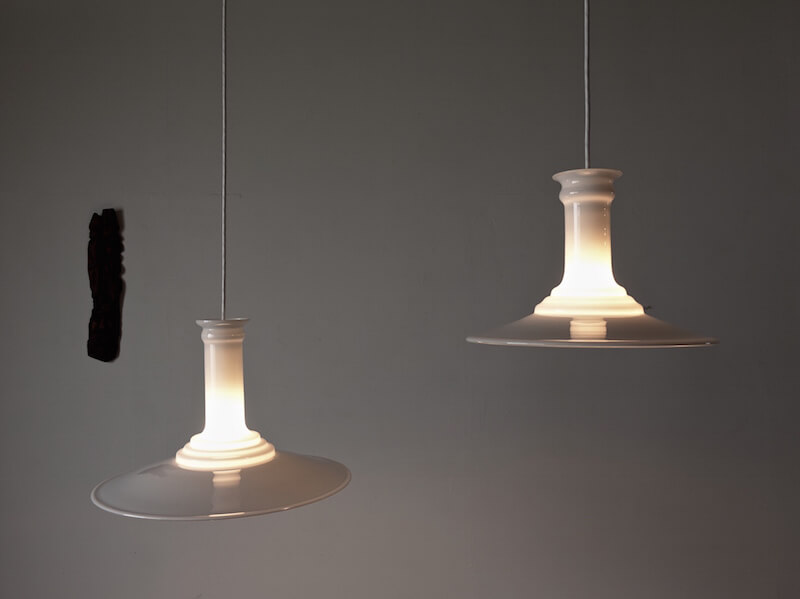 "Glass pendant lamp ""Mythos"" by Holmegaard and Royal Copenhagen"