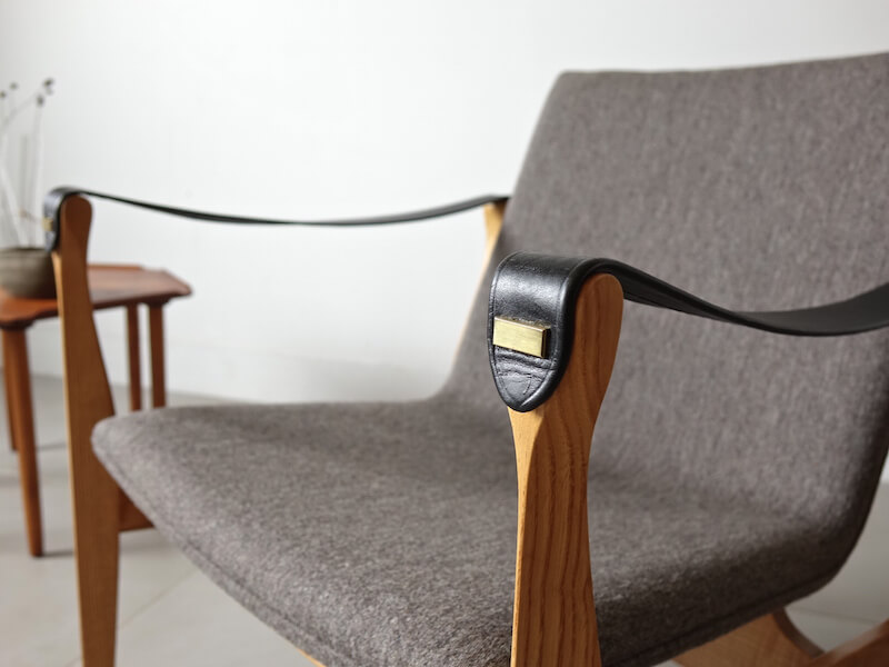 """Model 4305"" Safari chair by Karen & Ebbe Clemmensen for Fritz Hansen"