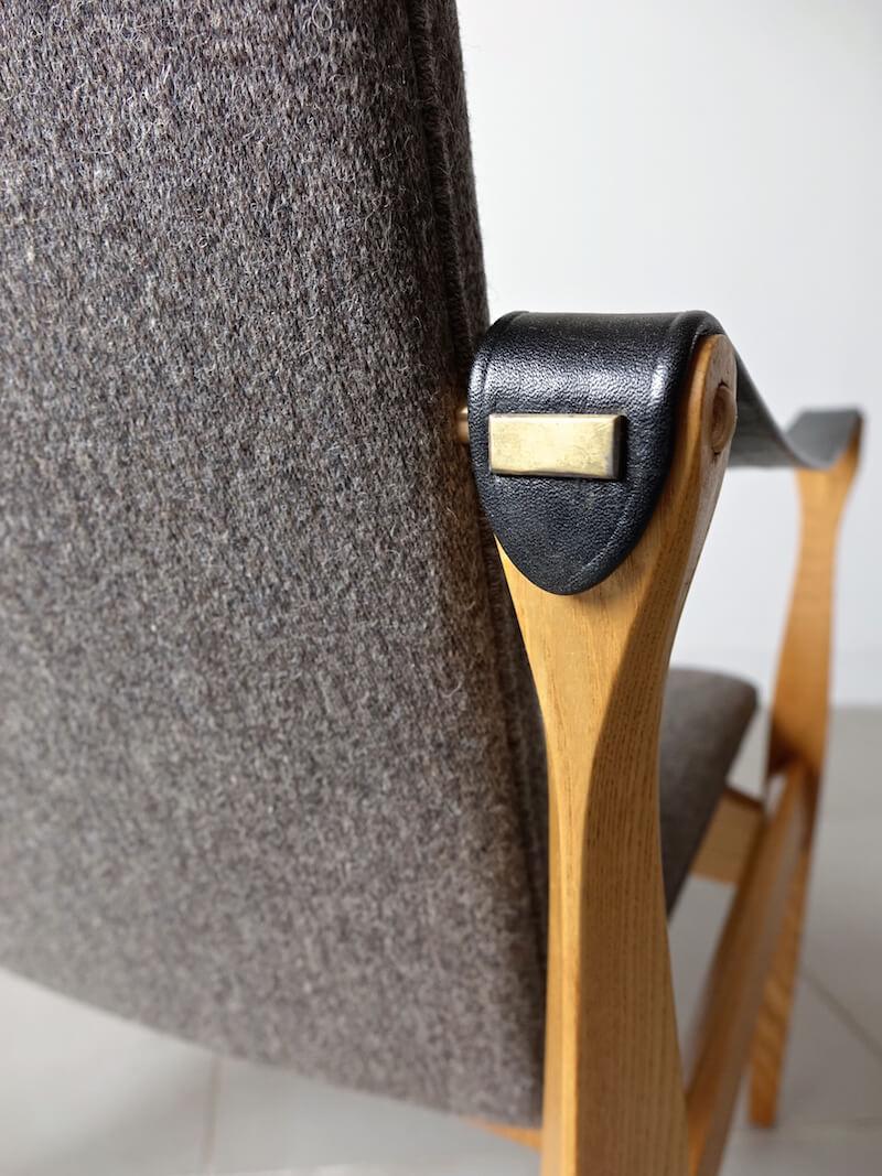 """""""Model 4305"""" Safari chair by Karen & Ebbe Clemmensen for Fritz Hansen"""