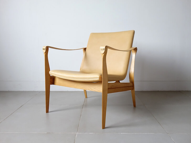 Model 4305 Safari chair by Karen & Ebbe Clemmensen (Leather upholstery)