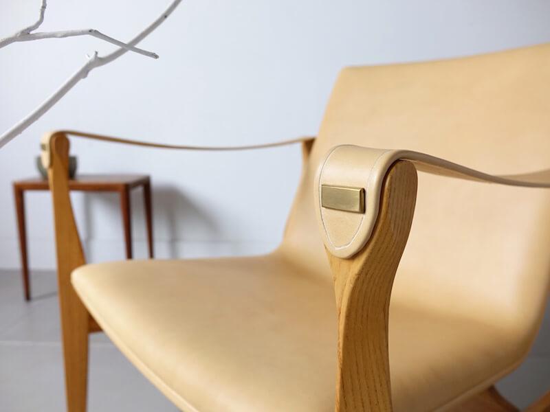 Model 4305 Safari chair by Karen & Ebbe Clemmensen (Leather upholstery)