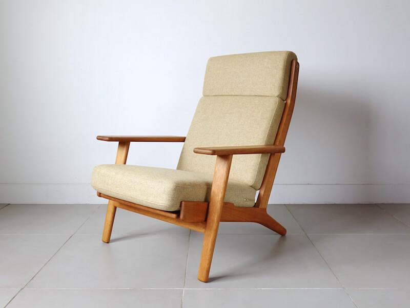 GE290A Highback chair by Hans J. Wegner for GETAMA