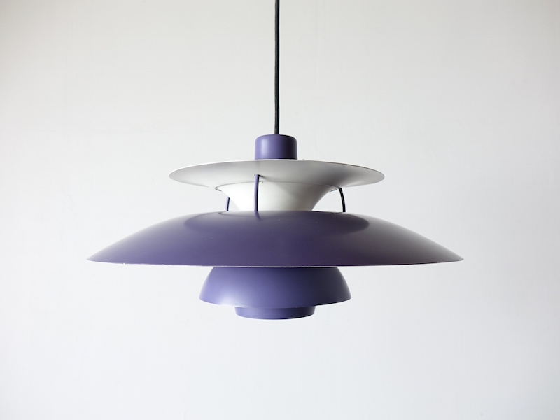 Purple PH5 lamp by Poul Henningsen for Louis Poulsen