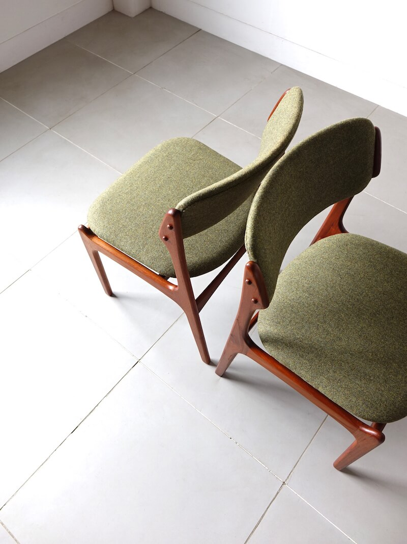 Dining chairs Model.49 by Erik Buch for O.D.Møbler