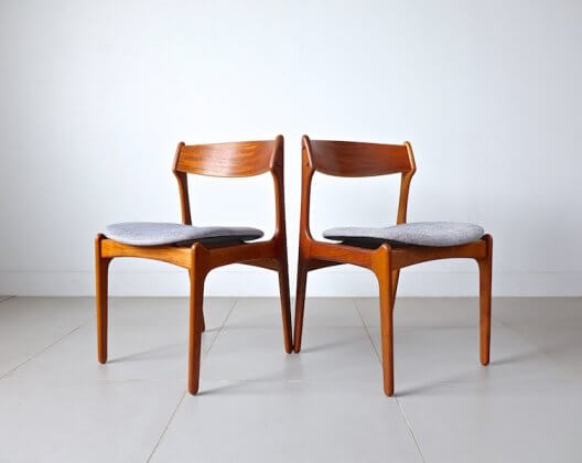 Dining chairs by Erik Buch for O.D.Møbler