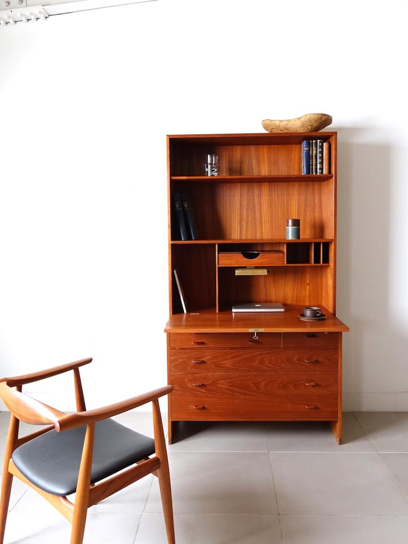 RY series writing cabinet by Hans J. Wegner in teak