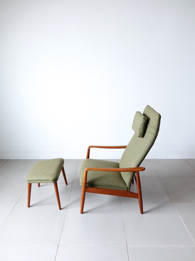 Lounge chair with Ottoman by Søren Ladefoged for SL Mobler
