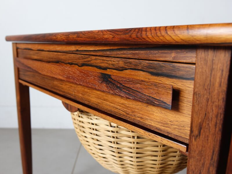Sewing table by Johannes Andersen for CFC Silkeborg in rosewood