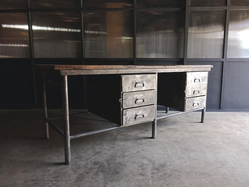 Huge iron shop counter