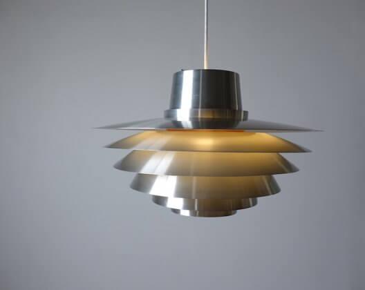 Verona aluminum pendant by Svend Middelboe for Nordisk Solar