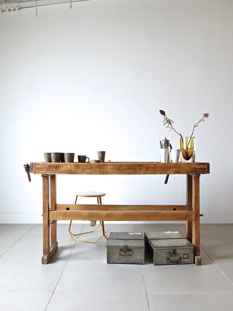 Old wood work table
