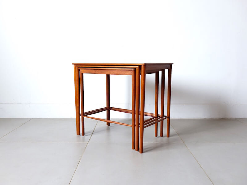 Nesting table in teak by Grete Jalk for P. Jeppesen