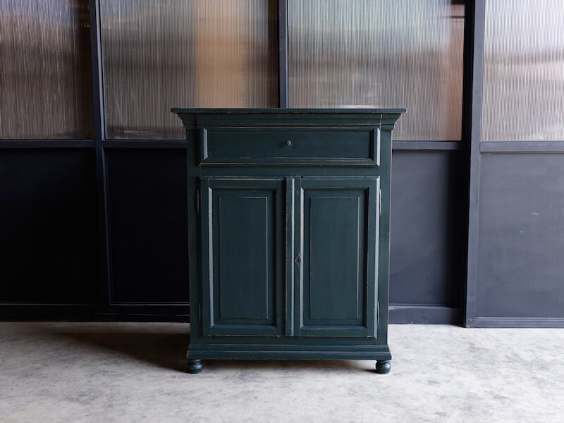 Antique dark green cabinet