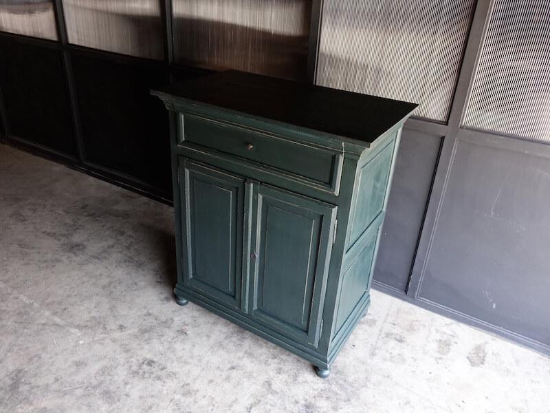 Antique dark green cabinet