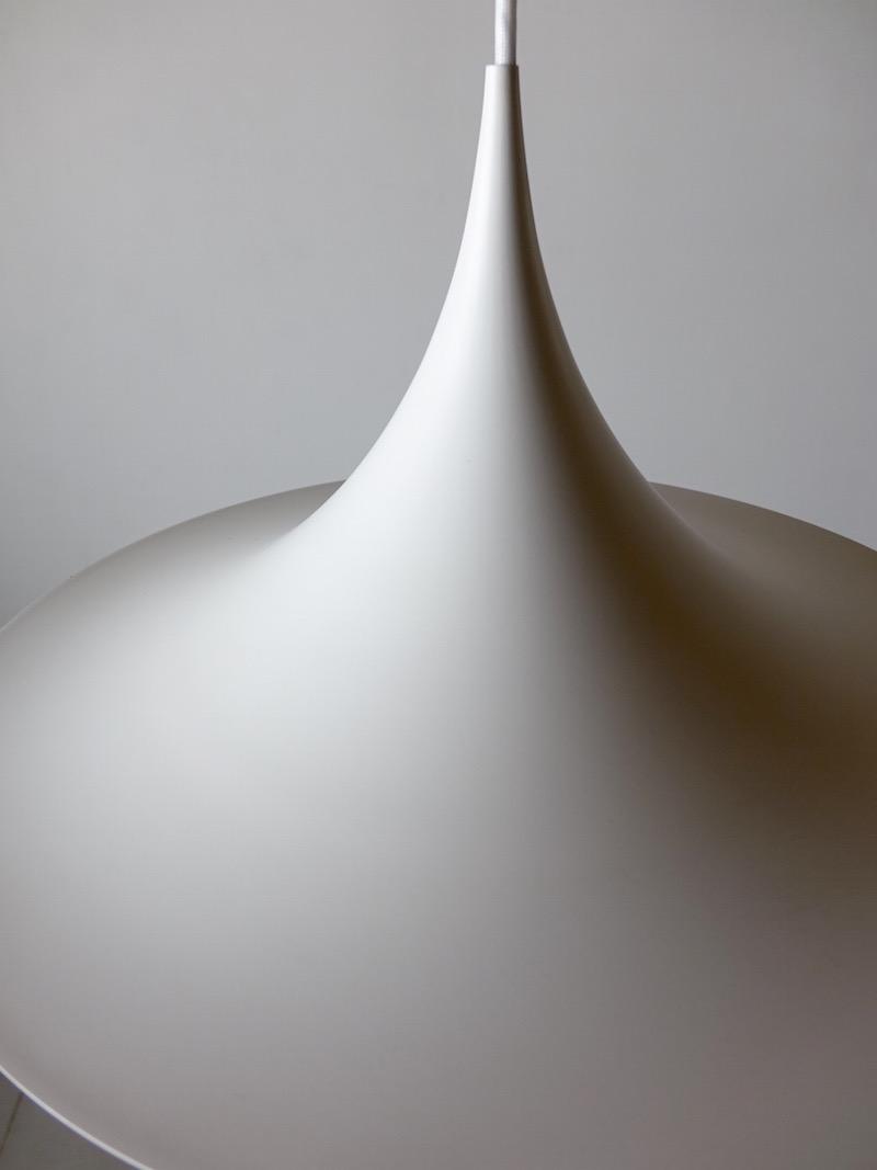 White Semi Pendant Lamp by Claus Bonderup & Torsten Thorup