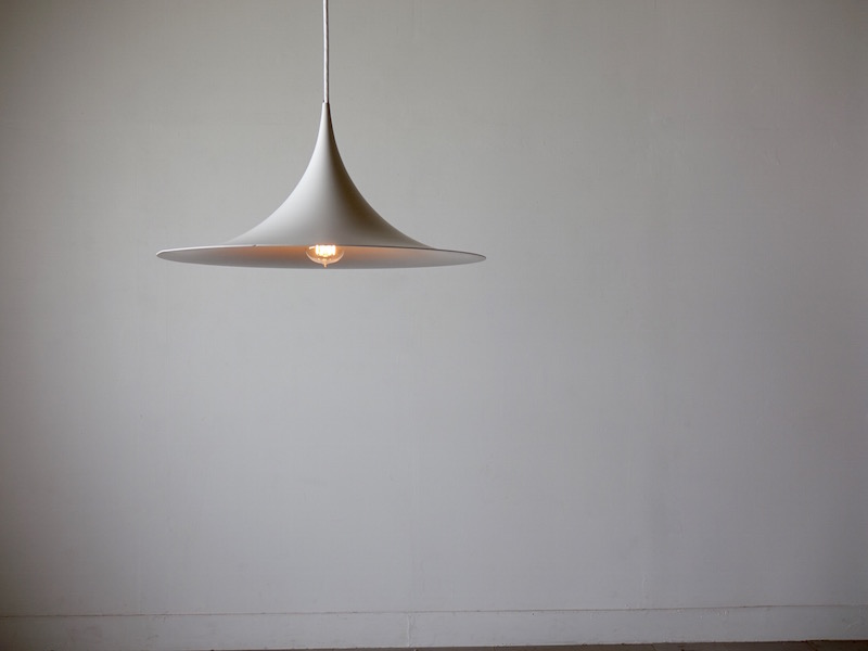White Semi Pendant Lamp by Claus Bonderup & Torsten Thorup
