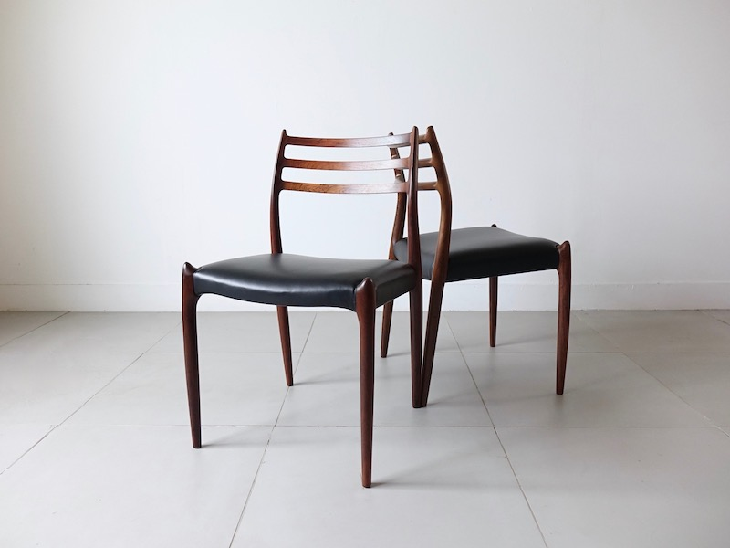 Model.78 Dining chairs by Niels O.Moller for J.L. Moller