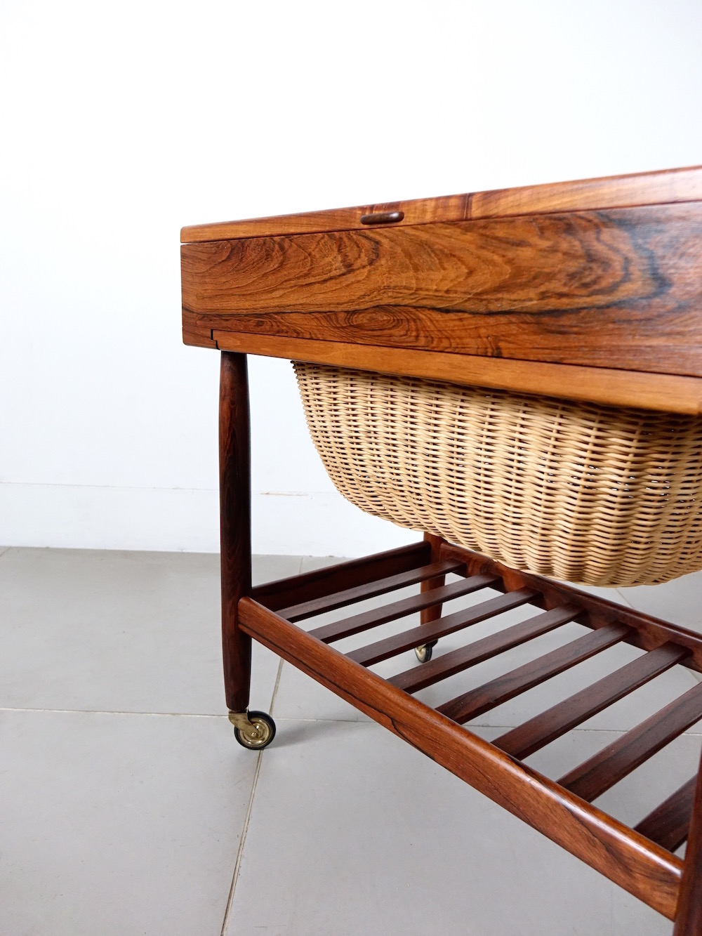Sewing table in teak by Ejvind A. Johansson for FDB Møbler