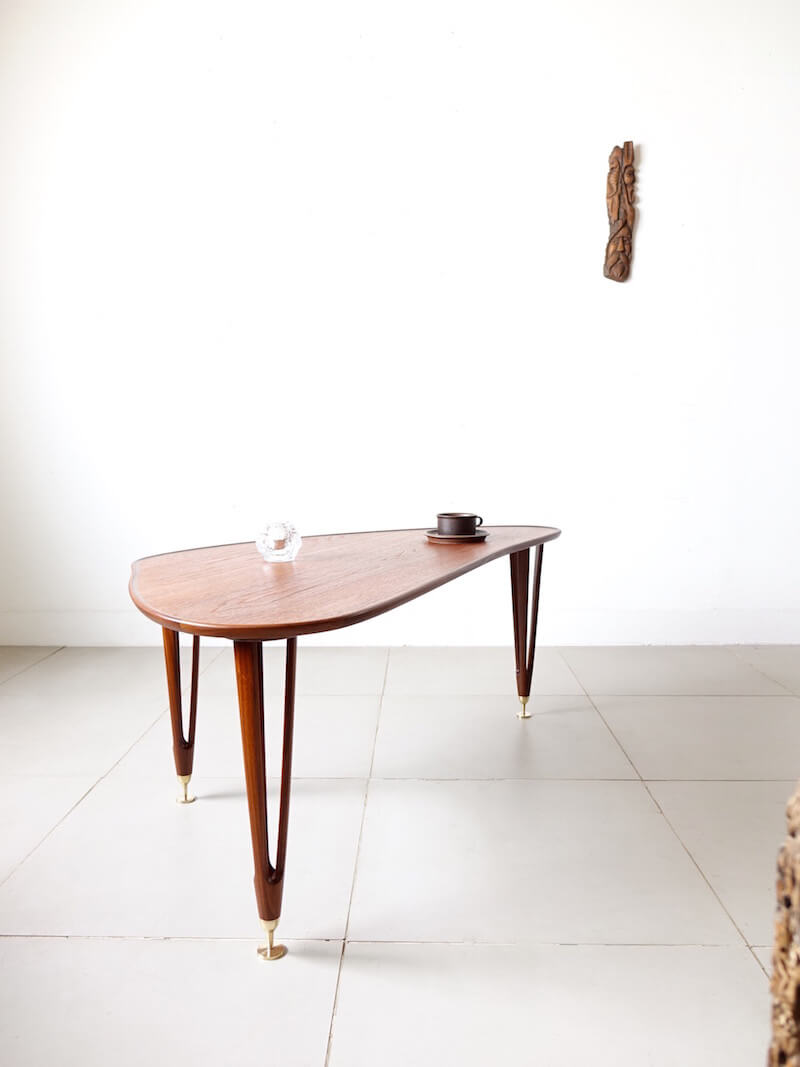 Biomorphic Danish Coffee Table by B. C. Mobler