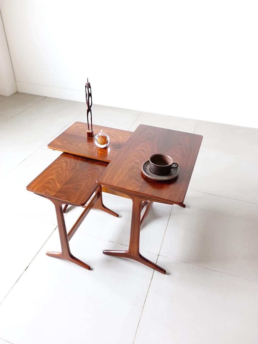 Nesting tables HM100 by Erling Torvits for Heltborg Mobler