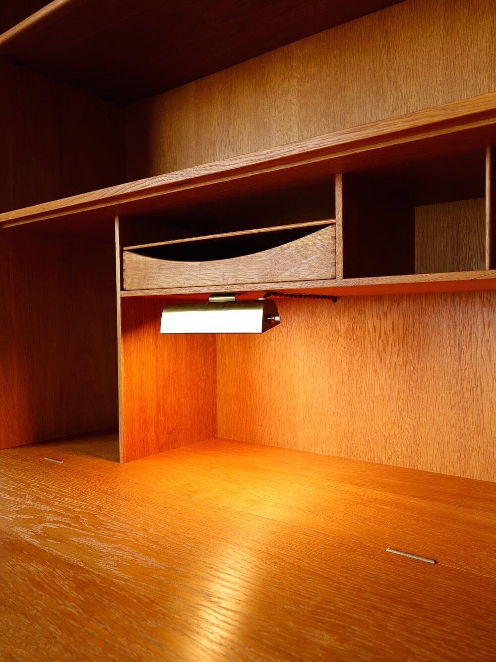 RY series writing cabinet by Hans J. Wegner in oak