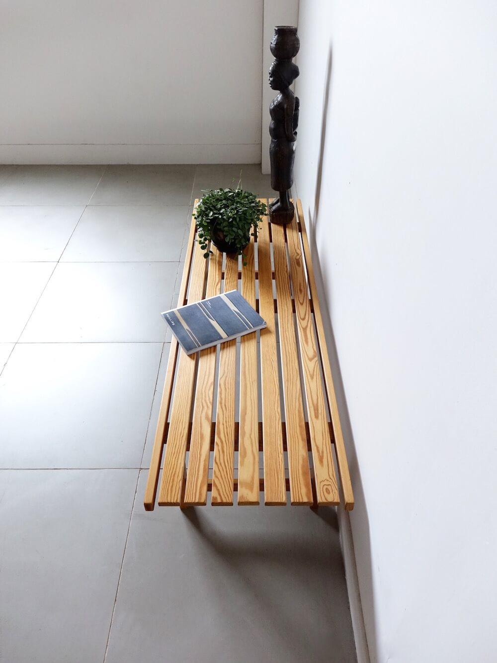 Slat Bench Table by Hugo Svensson for Bjärnums Möbelfabriker