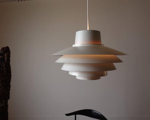 Verona Pendant Lamp by Svend Middelboe for Nordisk Solar (orange)