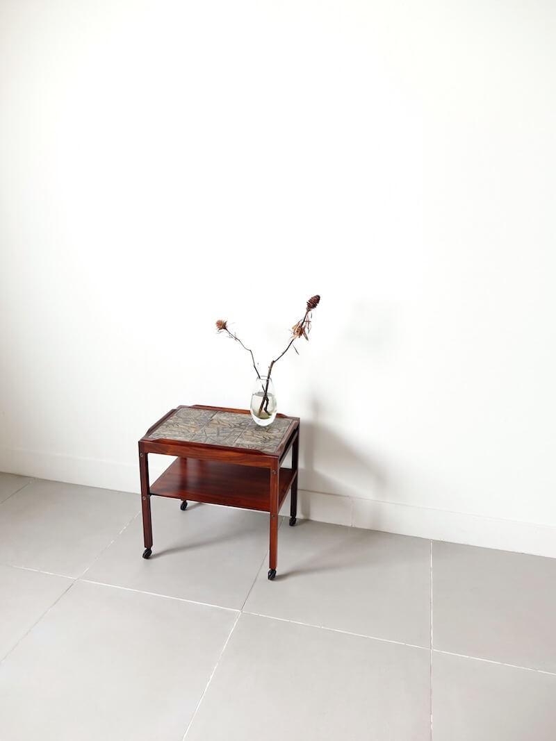 Trolley table by Haslev with Royal Copenhagen