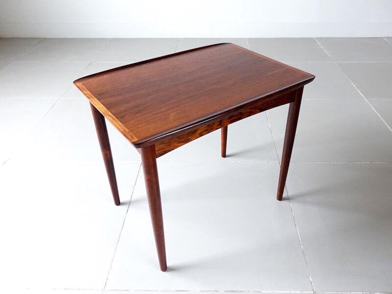 Danish vintage side table in Rosewood