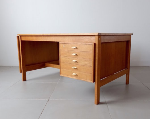 Extension desk by H. Brockmann Petersen in oak